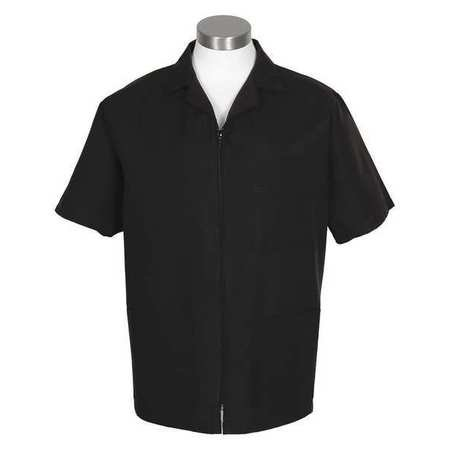 Fame Adult's Zipper Smock-Black-Medium