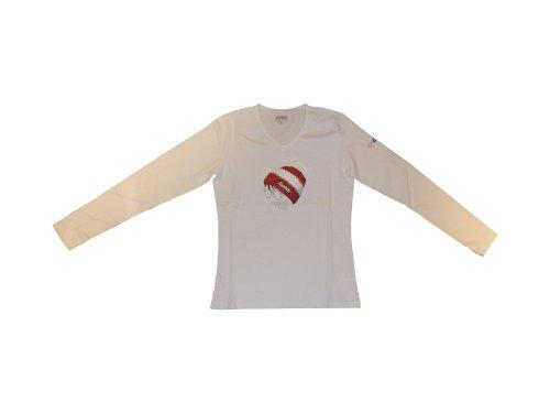 Eisbär Camiseta Manga Larga Snow Camiseta. Bonito diseño camiseta y muy suave. Mujer. White Blanco blanco