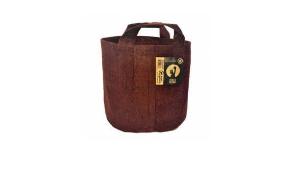 Root Pouch - Maceta de tela de 30 l 30 x 35 cm - con asas - marrón: Amazon.es: Jardín