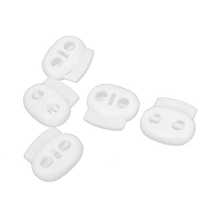 eDealMax plástico frijol Toggle Primavera Cuerda Cargado Cable Cerraduras Sujetador 5pcs Blanca: Amazon.com: Industrial & Scientific