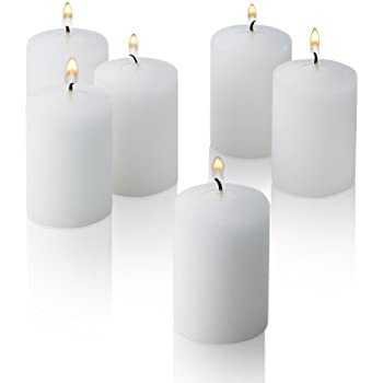 15 Hour White Unscented Votive Candles Set of 36 MADE IN USA