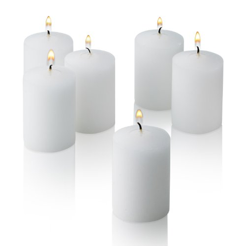 (Light In The Dark White Votive Candles - Box of 36 Unscented Bulk Candles - 15 Hour Burn Time - For Weddings, Restaurants, Parties, Spa and Decorations.)