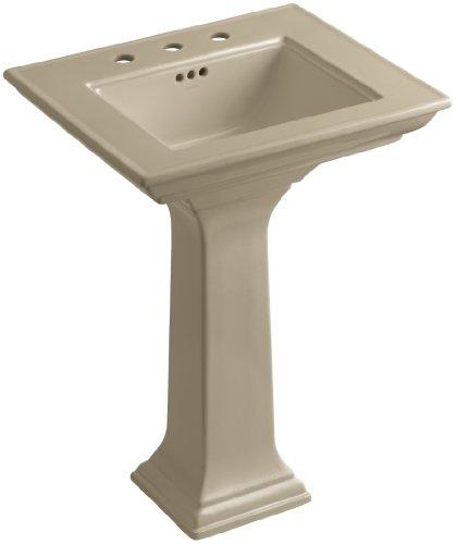 33 Memoirs Pedestal - KOHLER K-2344-8-33 Memoirs Pedestal Bathroom Sink with Stately Design and 8