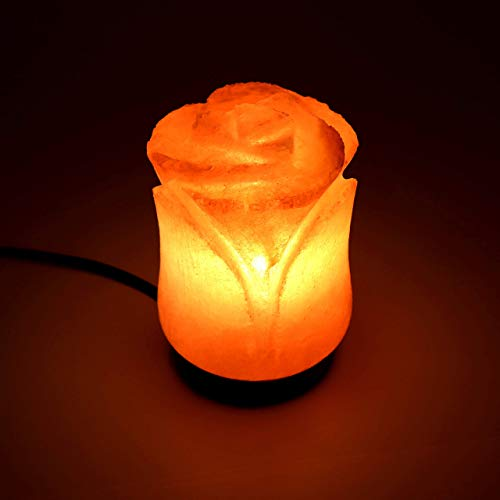 Beautiful Flower Shape Himalayan Salt Lamp | Authentic and Hand Carved Himalayan Salt | Sourced from Pakistan