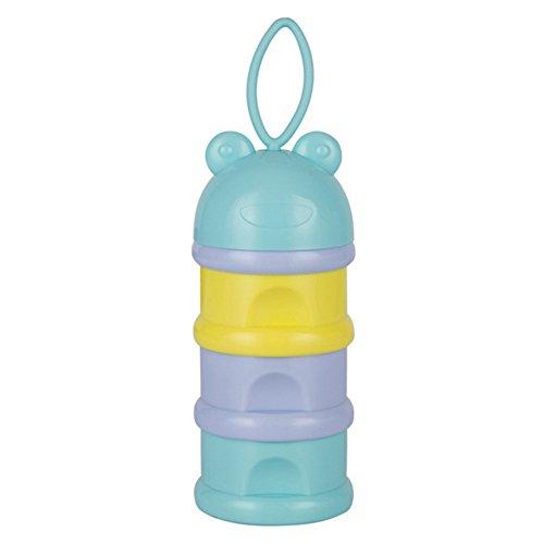 mcitymall77 Tragbar Sicher Niedlich BPA Freier Babynahrung Baby Milchpulver Snack Dispenser Portionierer Dose Behälter Aufbewahrungsbox Bleifreier Baby Säugling Zubehör (Lightcolor)