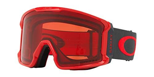 Oakley Line Miner Asian Fit Snow Goggle, Red Forged Iron, Large ()