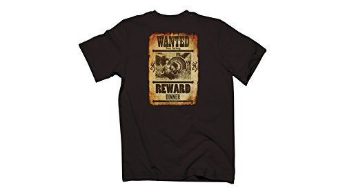 Browning Men's Wanted Tom Turkey S/S T-Shirt, Color 035900 Dark Chocolate, Size XXL