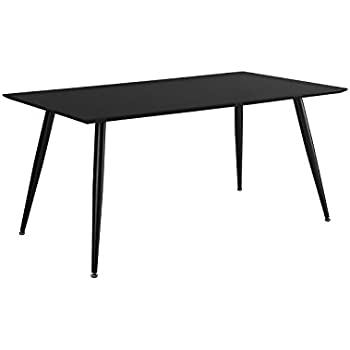 Sleek Modern Dining Kitchen Table (Black)