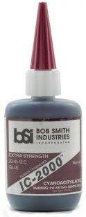 Bsi Ic 2000 Instant Rubber Tough Black Glue  1Oz