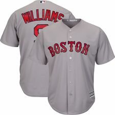 Ted Williams Boston Red Sox Road (Grey) Cool Base Jersey Men's (Small)