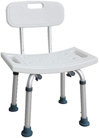 Bad Stuhl Duschhocker Rutschfester Duschsitz, Mit Armlehnen Aluminiumlegierung Badstuhl Badezimmer Duschhocker...
