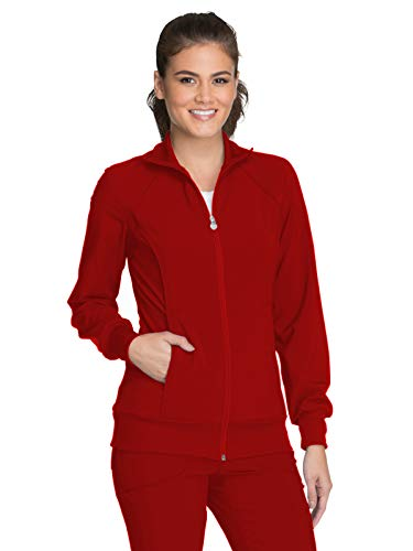 Cherokee Infinity 2391A Zip Front Warm-Up Jacket Red L (Scrub Jackets For Nurses)