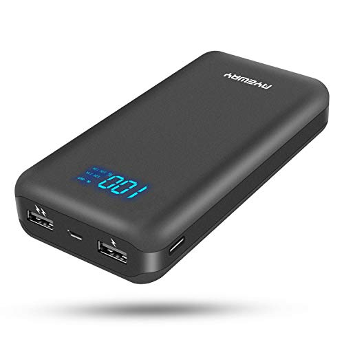 Power Bank 26800mah Portable Charger with Dual Output and Dual Input,Battery Backup Portable Phone Charger with LCD Screen,Compact External Battery for iPhone,Samsung Galaxy,ipad and More.