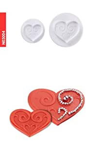 Pavoni 2 Piece Plunger Cutter Set - Hearts