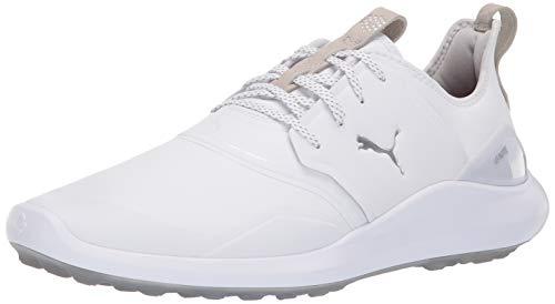 Puma Golf Men's Ignite Nxt Pro Golf Shoe White-Puma Silver-Gray Violet, 11 M US (Golf 11 Size Shoes Puma)