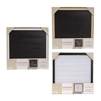 Letter Board with 145 Letters 16 x 16 inches 3 Assorted Frame Window Box, Case of 6