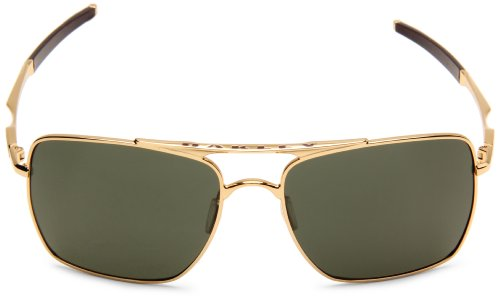 Square Gold Frame Sunglasses : Oakley Mens Deviation OO4061-02 Square Sunglasses,Polished ...