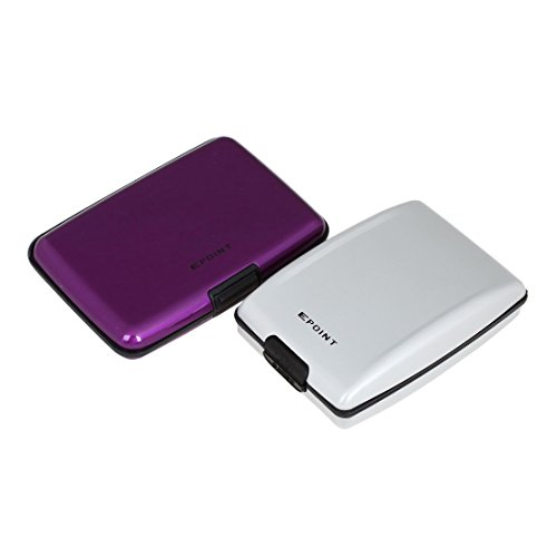 ECB01A06 Purple Silver Perfect Series Aluminum Wallet Money Clip Absolutely World Wide 2 Pack Business Card Holder Money Clip Presents Idea By Epoint