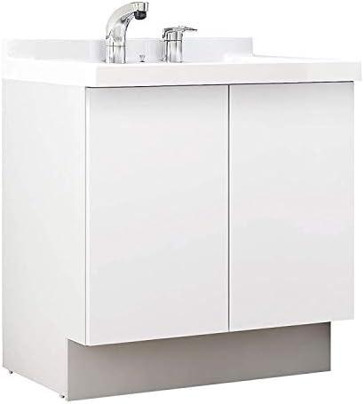 イナックス(INAX) 洗面化粧台 J1プラスシリーズ 幅75cm 両開きタイプ シングルレバーシャワー水栓 J1NT755SYNYS2H 寒冷地用 グロスホワイト(YS2H)