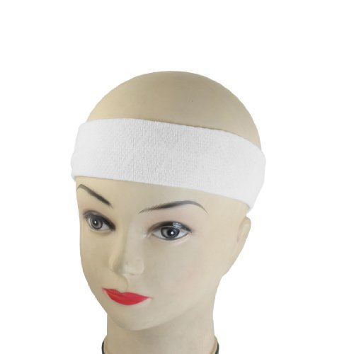 DealMux Elastic Fabric Household Bathing Headband Hair Band 2 Pcs White for Ladies
