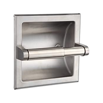 lovely idea single post toilet paper holder. SMACK Brushed Nickel Recessed Toilet Paper Holder  Includes Rear Mounting Bracket Franklin Brass 9097SN Satin Tissue