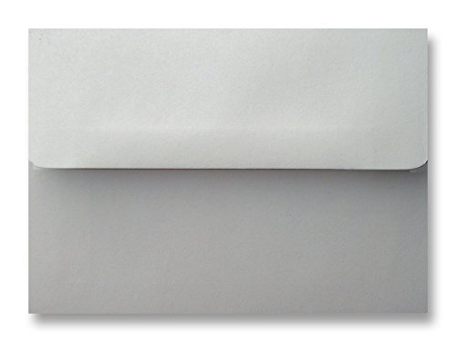Free Shipping 100 Pastel Gray Square Flap A1 Envelopes (3-5/8 X 5-1/8) for 3-3/8 X 4-7/8 Response Enclosure Invitation Announcement Wedding Shower Communion Christening Cards By Envelopegallery