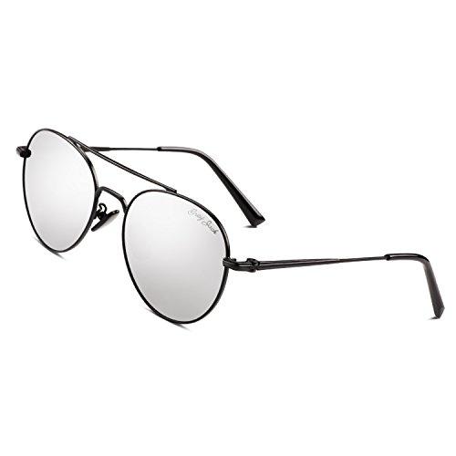3ff2f61ade GREY JACK Women s Polarized Aviator Sunglasses Fashion Flat Mirror Lens for Men  Women