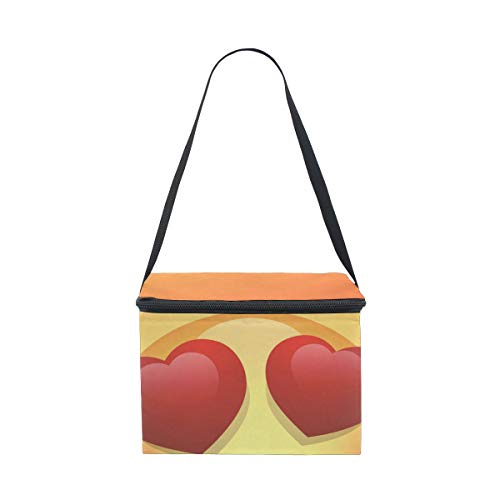 Lunch for Lunchbox Picnic Shoulder Smile Love Bag Strap Emoji Face Happy Eyes Cooler rprq7Un