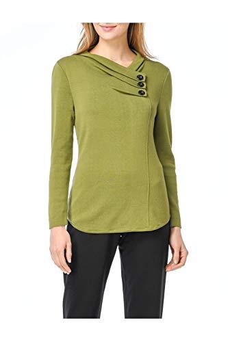 Habitat Clothes Fine Gauge Surplice Button Top by Habitat Clothes (Image #3)