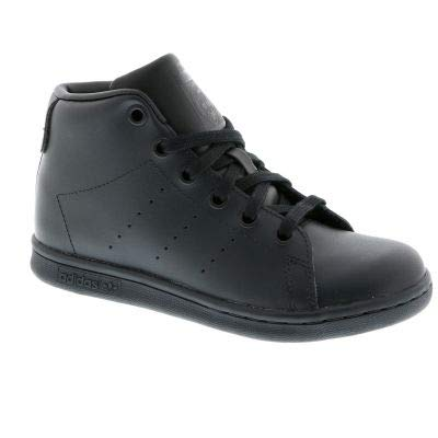 adidas Originals Boys Stan Smith Mid Trainers 13.5 Child Black