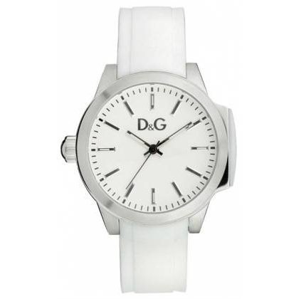 D&g Dolce & Gabbana Womens Watch (D & G Salt And Pepper Ladies Silicone Strap Fashion Watch DW0746)