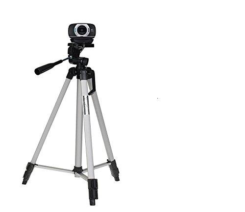 53'' Camera Tripod Mount Holder Stand for Logitech Webcam C925e C922x C922 C930e C930-Silver by AceTaken (Image #1)
