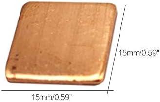 Mazhar 100 St/ücke 0,1mm-2,0mm Laptop Kupferblech Platte Streifen Shim W/ärmeleitpad K/ühlk/örper Blatt F/ür GPU CPU VGA Chip RAM K/ühlung-Gold 15 0,8 MM 15