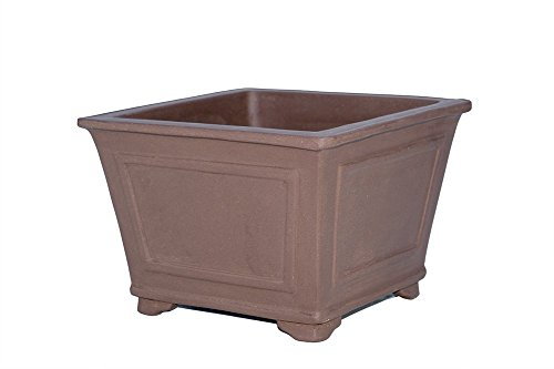 Large Square 12'' Deep Yixing Zisha Purple Clay Bonsai Pot (PD1-2)