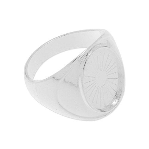 10x14mm Blank Bezel Settings Ring Base-20pcs/lot (Silver ()