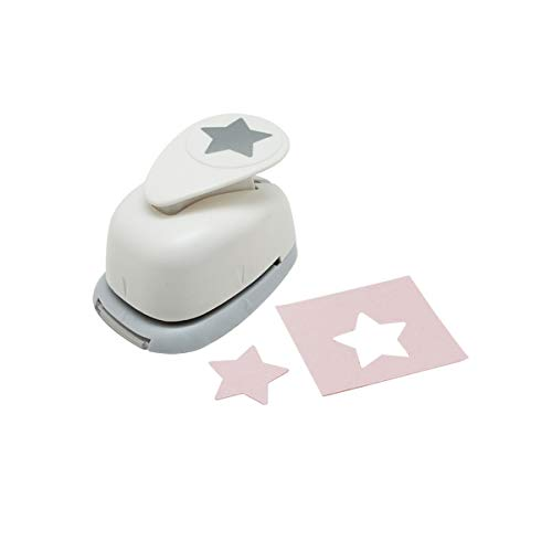 Bira 1 inch Star Lever Action Craft Punch,Christmas Punch, for Paper Crafting Scrapbooking Cards Arts ()