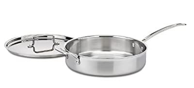 Cuisinart MCP33-30HN MultiClad Pro Stainless 5-1/2-Quart Saute with Helper and Cover