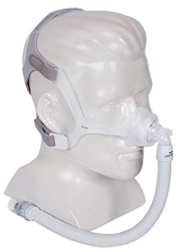 Wisp Nasal Mask Package Includes: Mask Frame – Clear OR Fabric Headgear Short Tube Small/Medium, Large, and Extra Large Cushions (AZHeth)