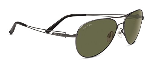 Serengeti Brando Sunglasses Velvet Gunmetal Polarized 555nm