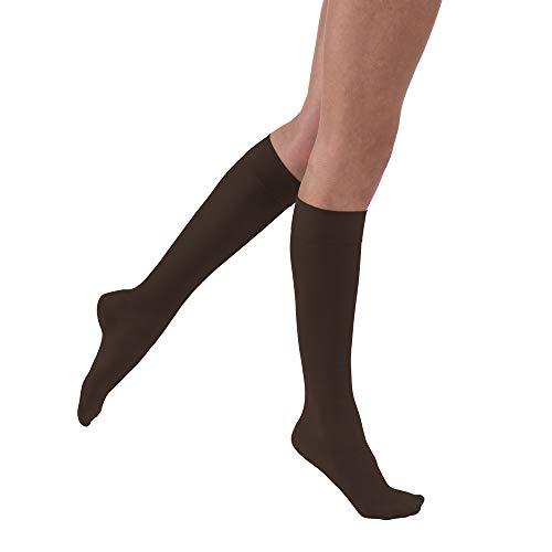 JOBST UltraSheer Knee High 15-20 mmHg Compression Stockings, Closed Toe, Medium, Espresso
