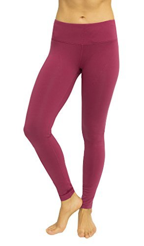 26e4d4fd59 Galleon - 90 Degree By Reflex High Waist Powerflex Legging - Tummy Control  - Cranberry - L