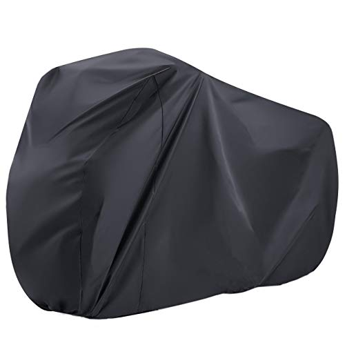 """Maveek Black Bike Cover 190T Waterproof Bicycle Cover Large Sizes(78.7"""" L 27.6"""" W 43.3"""" H) Rain Cover for Outdoor Bicycle Storage, Dust Resistant and UV Protection."""