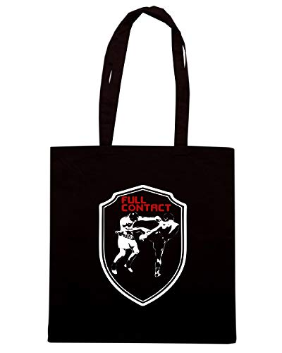 Borsa CONTACT FIGHTER FULL MMA Shopper THAI BOXEN MUAY UFC CONTACT TR0047 FULL Nera 0w80qgtr