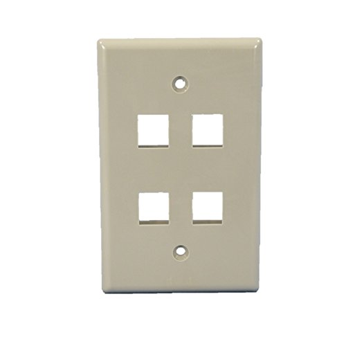 Cooper Wiring Devices 5540GY-MSP Wallplate 4 Port Modular MidSize GY