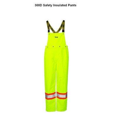 - Journeyman 300D Insulated Detachable Bib Safety Pants Size: XXX-Large, Color: Fluorescent Green