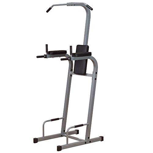 Powerline by Body-Solid Vertical Knee Raise Chin-Up Push-Up Dip Machine (PVKC83X)