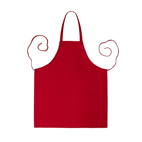 Linteum Textile (12-Pack, 28x32 in, Red) KITCHEN CHEF BIB APRON, Commercial Grade for Restaurants & Home Use