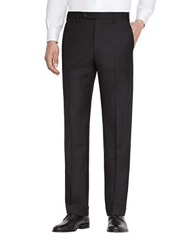 Zanella Todd Italian Wool Serge Trousers Classic Fit Flat Front (34, - Zanella Italian