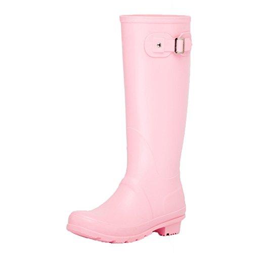HOFFNUNG Männer Frauen Regen Stiefel Wasser Schuhe Wasser Anti-Schlamm Vier Jahreszeiten Anti-Rutsch Einfache Noble,E-d E