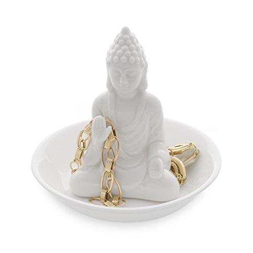 Balvi - Buddha ceramic ring holder. Rings and jewellery tray. Made of ceramic. Buddha shape. (Buddha Jewellery)